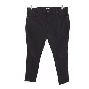 Old Navy 16 Short Black Curvy Skinny Jeans
